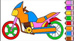 rainbow motorcycle coloring pages pena animation and coloring