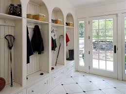 Mudroom Entryway Ideas White Mudroom Lockers Fpudining