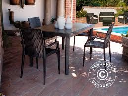 tavoli da giardino rattan tavolo da giardino boheme in simil rattan antracite