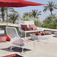 White Outdoor Furniture Furniture Gray Color Stainless Steel Lounge Chair With Black