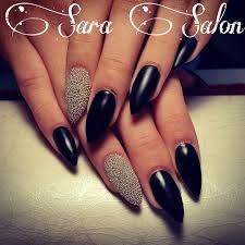matte black nails discovered by georgiana ishchenko