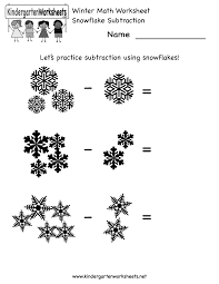 Preschool Worksheet Kindergarten Math Worksheets Winter Math Worksheet Free