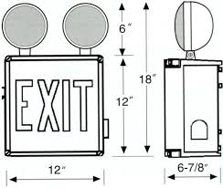 exit emergency light combo wet location led exit sign emergency light combo unit