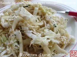 cuisiner chou chinois recettes d une chinoise salade de chou chinois pé tsaï avec la