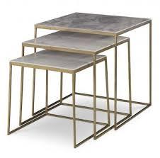 marble top nesting tables sanchez nesting tables mr brown lantz pinterest tables