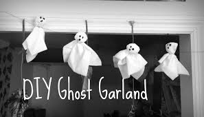 diy ghost garland quick u0026 super cheap youtube