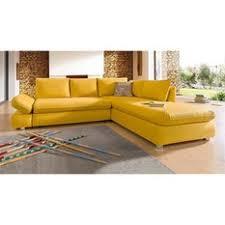 canape jaune cuir canapé banquettes et fauteuils jaune 3suisses mobilier