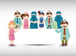 Doctor And Nurse Cartoon Doctor And Nurse Card Royalty Free Cliparts Vectors And
