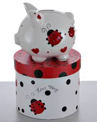 engraved piggy banks mini ladybug piggy bank personalized gift