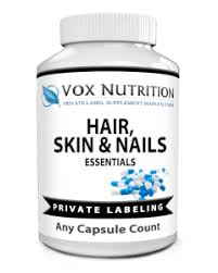 private label hair skin and nails vitamin supplement vox nutrition