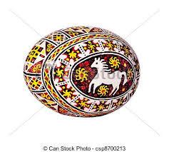 ukrainian egg colorful ukrainian easter egg isolated on white stock photos