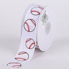 baseball ribbon grosgrain ribbon sports design white baseball width 3 8 inch