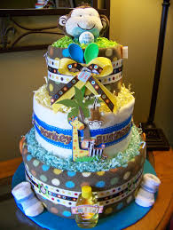 boys safari diaper cake baby shower pinterest 2 chainimage