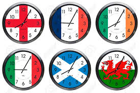 Flags Of Nations Rugby Six Nations Wall Clocks Of Flag On Each Clock And Showing