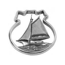 pewter sailboat ornament