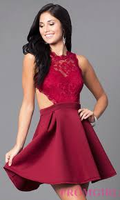 short mock two piece cheap homecoming dress promgirl