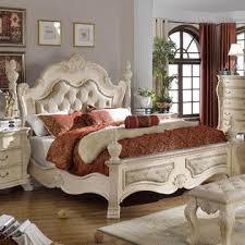 marble top dresser bedroom set esofastore antique rich pearl white finish 4pcs bedroom set