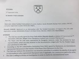 football writing paper west ham chase missing cash in masuaku transfer from olympiakos file 1