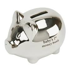 silver piggy bank for baby 12 best baby money banks images on christening gifts