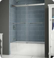Shower Door Rails Stunning Bathtub With Door Frameless Doors Shower Within Prepare