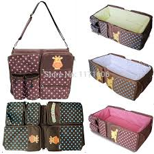 portable baby travel crib diaper bag asian tote bag