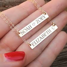 baby name plate necklace new necklace gold bar necklace baby name necklace