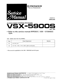 pioneer vsx 5900s service manual immediate download