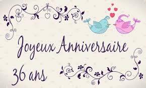 36 ans de mariage carte anniversaire mariage 36 ans oiseau