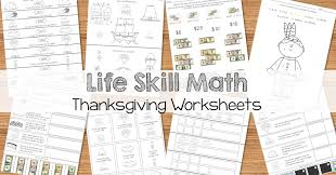 thanksgiving math worksheet math life skill worksheets thanksgiving themed breezy special ed