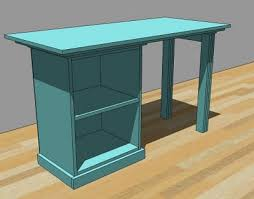 Free Woodworking Plans Small End Table by Ana White Build A Modular Office Small Desktop Free And Easy