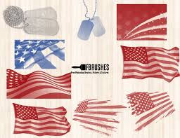 Us Flag Vector Free Download American Flag Brushes Fbrushes