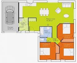 plan maison 3 chambre plan interieur maison plain pied unique plan maison 3 chambres