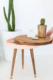 Chair Side Table With Storage 25 Diy Side Table Ideas With Lots Of Tutorials 2017