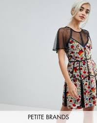 summer dresses on sale asos frock and frill floral printed velvet mini dress with