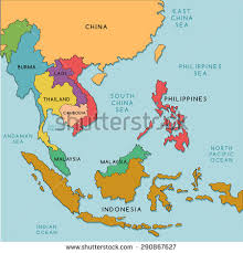 asia east map south east asia stock images royalty free images vectors