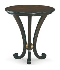 Martini Side Table by Classic Pedestal Table Wood Veneer Mahogany Round Martini