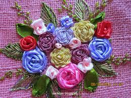 ribbon embroidery flower garden sadala u0027s embroidery embroidery jute bags