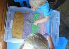 Sand Table Ideas Colored Sand Sensory Table