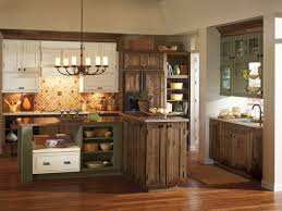 kitchen cabinets cherry finish perfectly balanced is this three toned cabinet by decora the