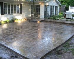 Concrete Patio Designs Layouts Furniture Stylish Sted Concrete Patio Design Ideas Stain