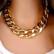 statement chain necklace images Thick gold chain collar statement necklace bracelet anklet jewelry jpg