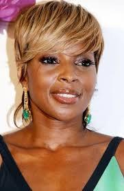ladies hair styles with swept over fringe full golden fringe short urban chic haircut for afro american