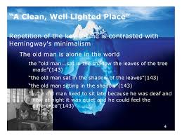 hemingway a clean well lighted place the iceberg theory