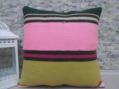 Ottoman Pillow Cushion by 18 X 18 Turkey Pillow Natural Vegetable Dyed Vintage Kilim Cushion