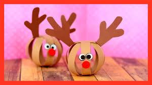 paper ball reindeer craft fun christmas craft for kids youtube