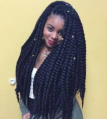 pictures on long thick braids curly hairstyles