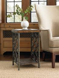 Accent End Table Gmelina Wood And Iron Accent End Table By Hooker Furniture Wolf