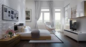tuananh eke s modern white bedroom with heavy silver window