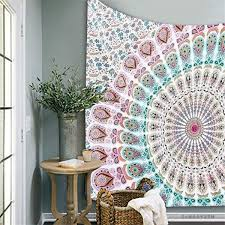 online get cheap indian wall decorations aliexpress com alibaba indian mandala tapestry 210x145cm wall hanging bedspread throw blanket picnic mat beach towel home room dorm art wall decor