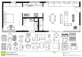 floor plan furniture uncategorized architecture plan with furniture in top view stock